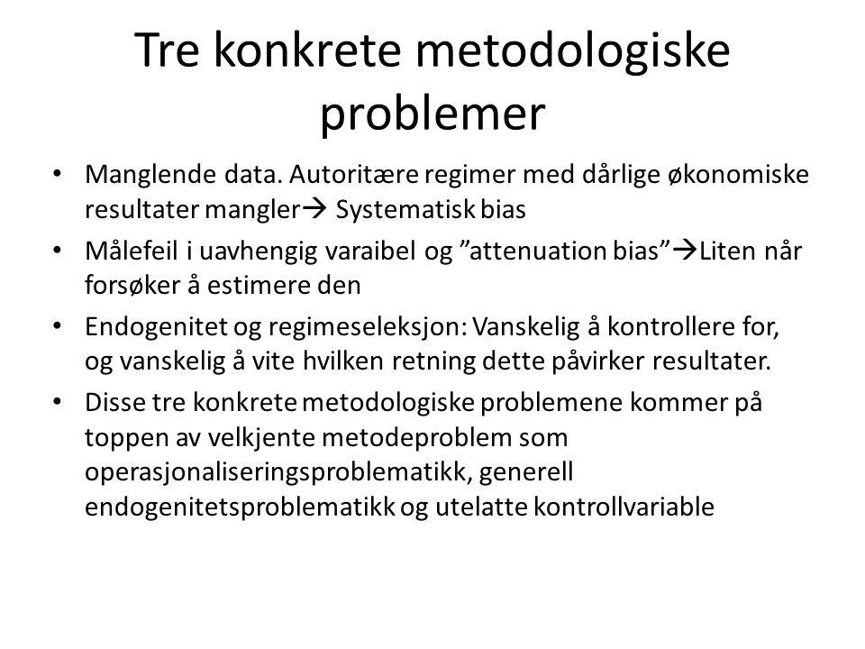Tre konkrete metodologiske problemer