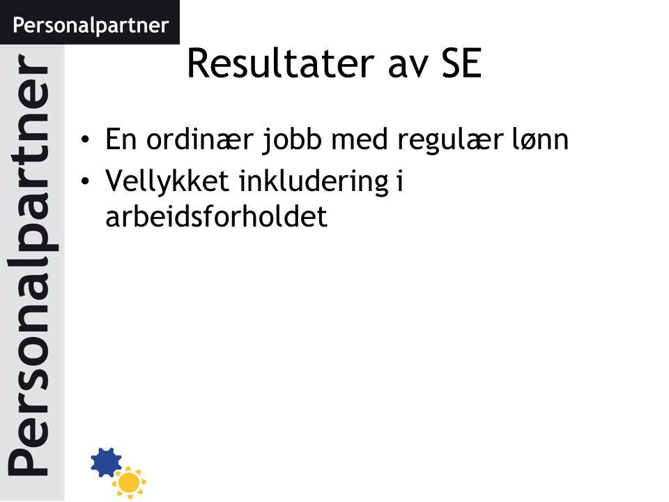 Resultater av SE En ordinær jobb med regulær lønn