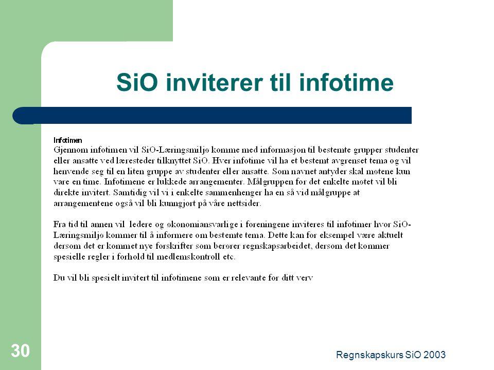 SiO inviterer til infotime
