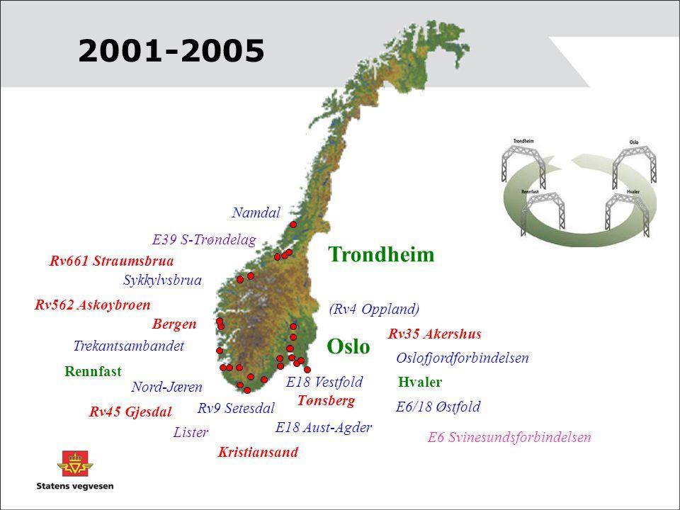 2001-2005 Trondheim Oslo Hvaler Rennfast E18 Vestfold