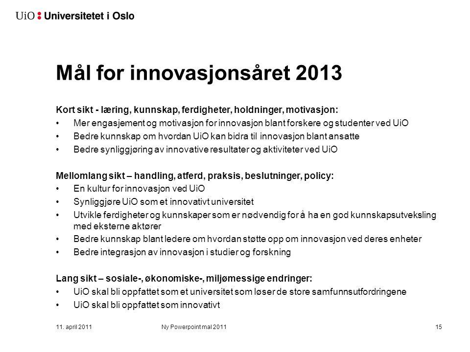 Implementering av handlingsplanen 2013-2015