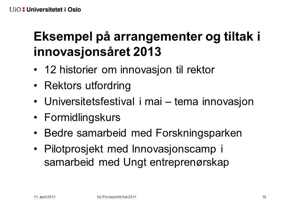 Mål for innovasjonsåret 2013