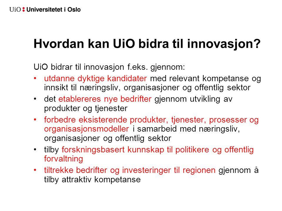 Grunntanke i Handlingsplanen for innovasjon