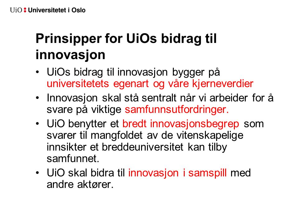 Hvordan kan UiO bidra til innovasjon