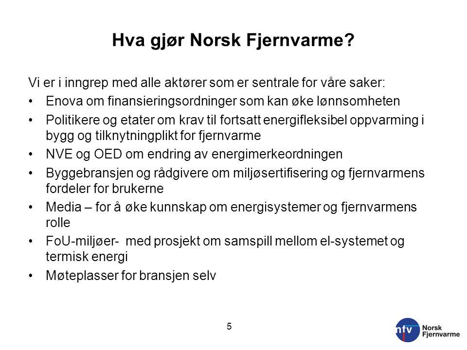 Hva gjør Norsk Fjernvarme