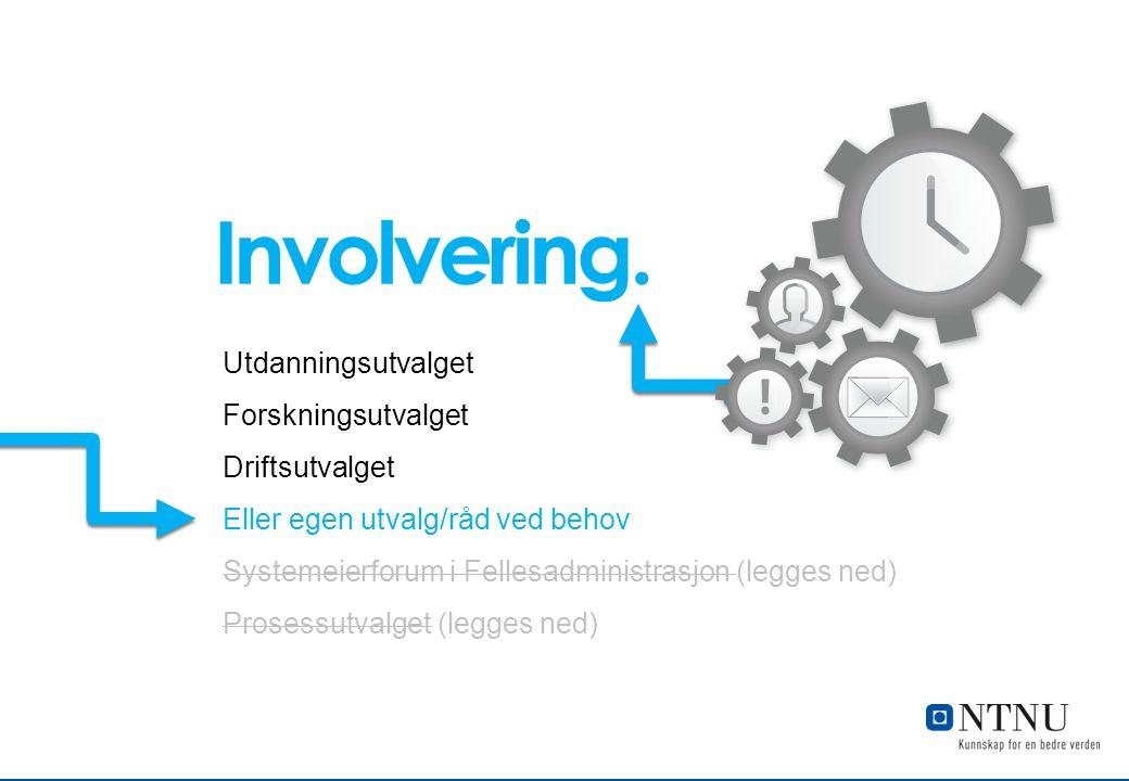 Involvering. Utdanningsutvalget Forskningsutvalget Driftsutvalget