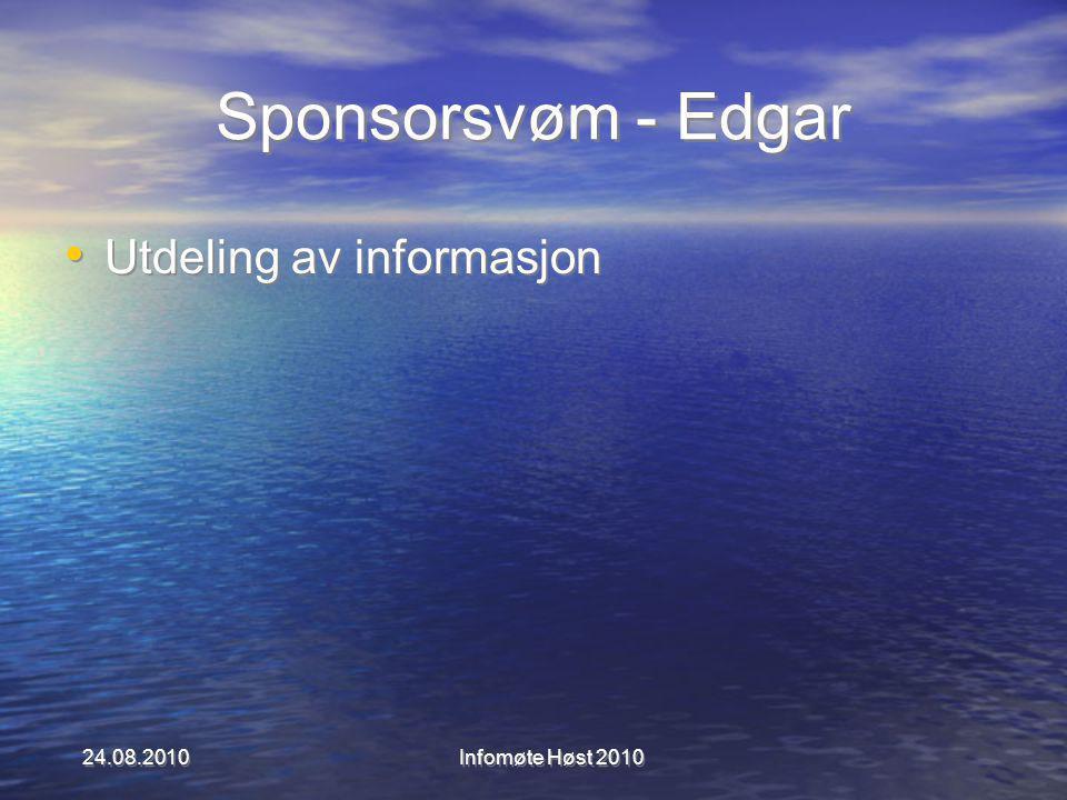 Sponsorsvøm - Edgar Utdeling av informasjon 24.08.2010