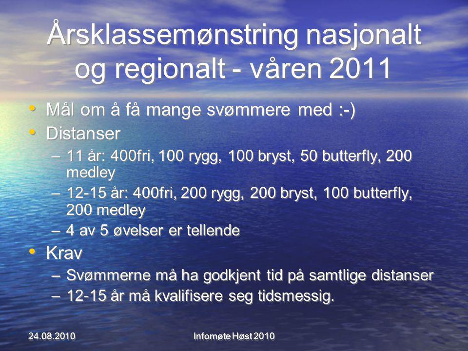 Årsklassemønstring nasjonalt og regionalt - våren 2011