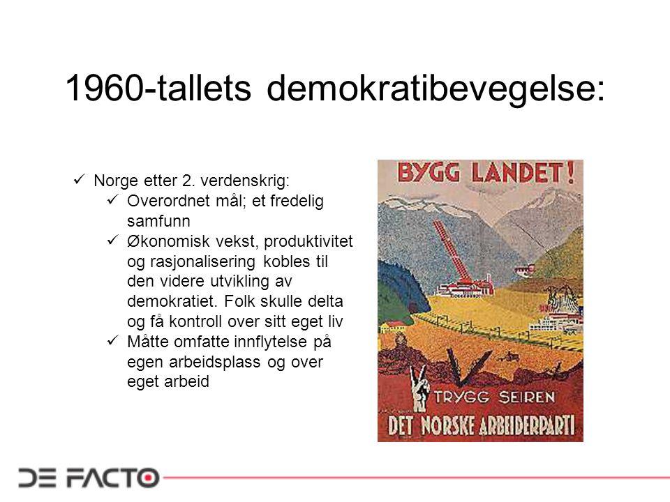 1960-tallets demokratibevegelse:
