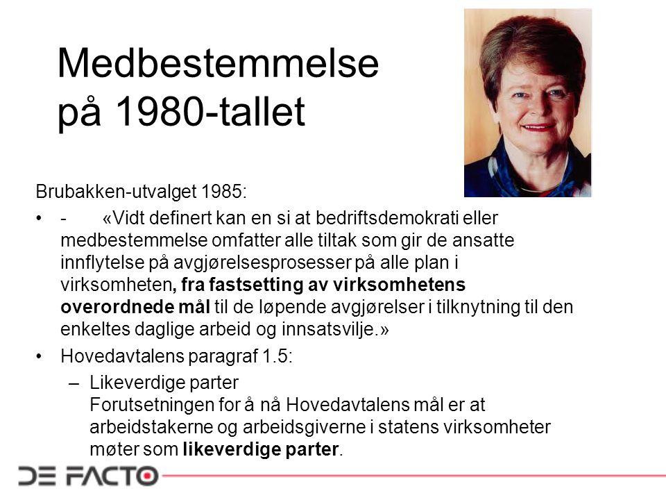 Medbestemmelse på 1980-tallet