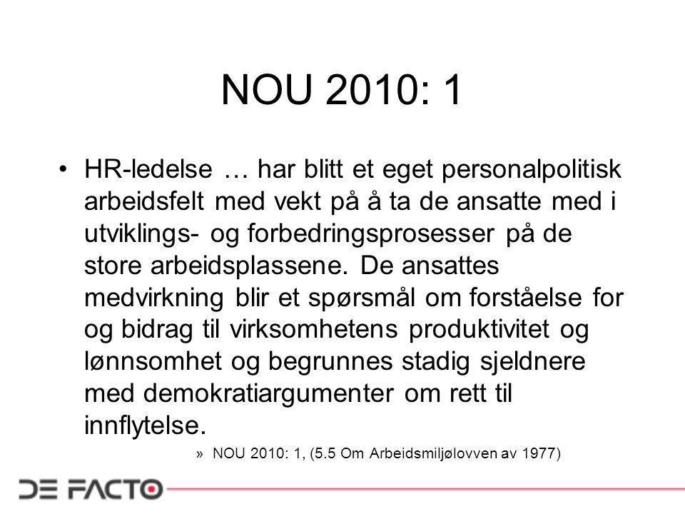 NOU 2010: 1