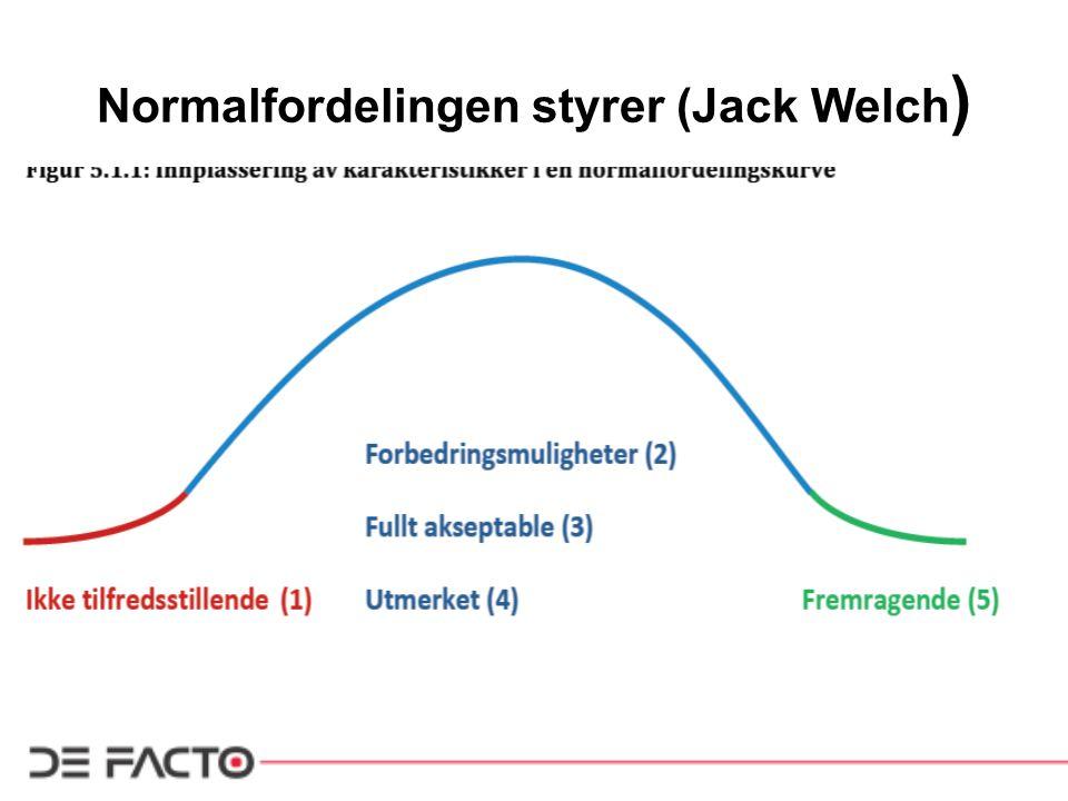 Normalfordelingen styrer (Jack Welch)