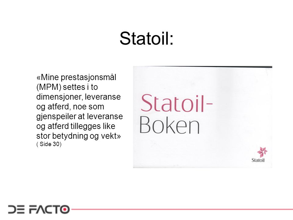 Statoil: