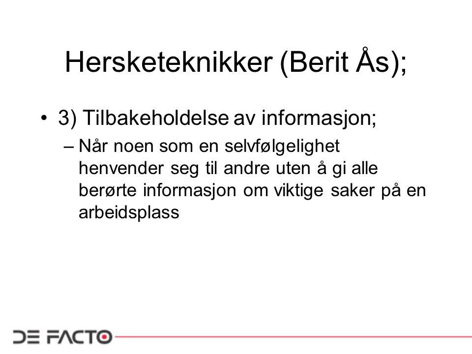 Hersketeknikker (Berit Ås);