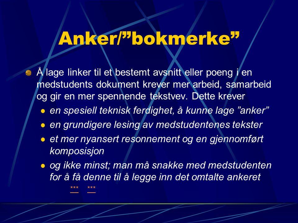 Anker/ bokmerke