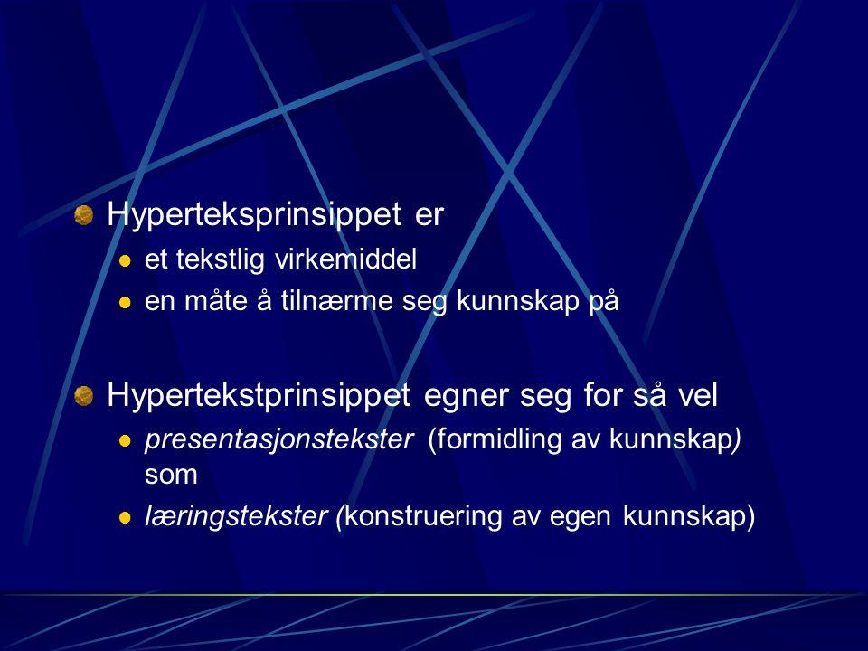 Hyperteksprinsippet er