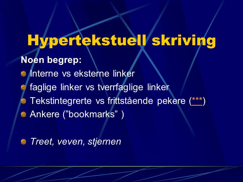Hypertekstuell skriving