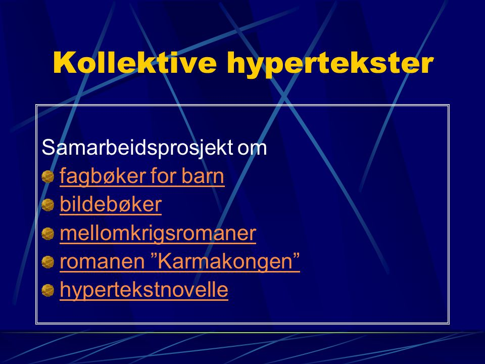 Kollektive hypertekster