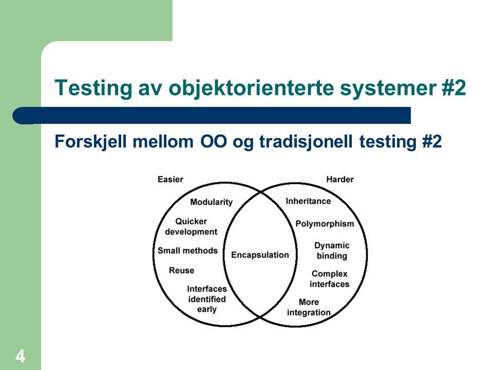 Testing av objektorienterte systemer #2