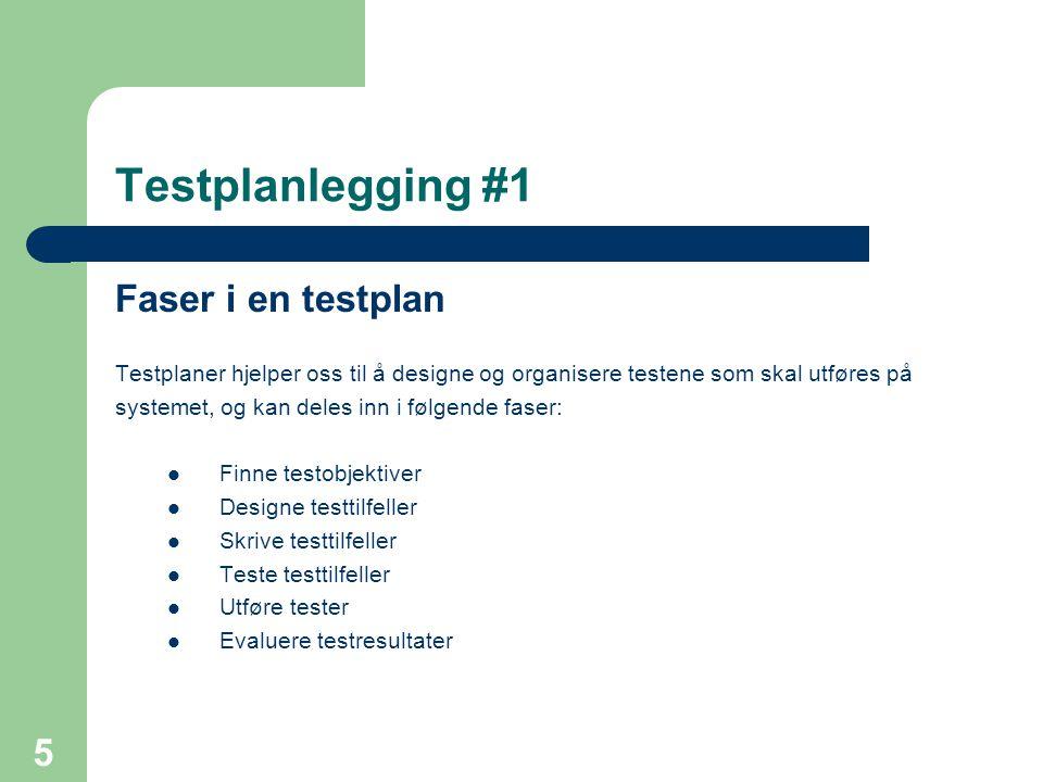 Testplanlegging #1 Faser i en testplan