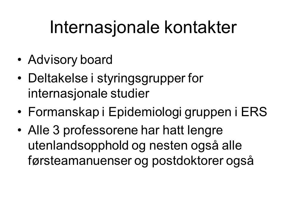 Internasjonale kontakter