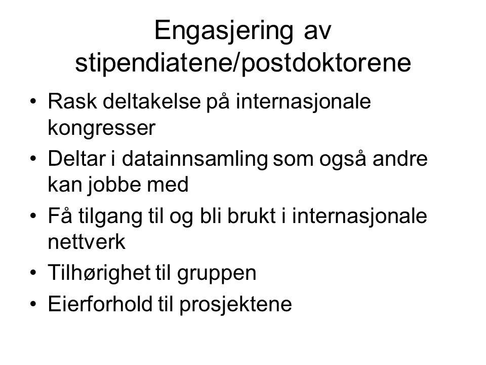 Engasjering av stipendiatene/postdoktorene