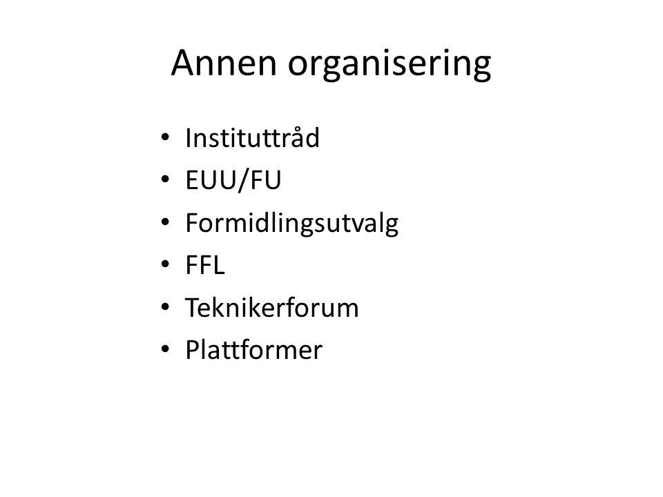 Annen organisering Instituttråd EUU/FU Formidlingsutvalg FFL