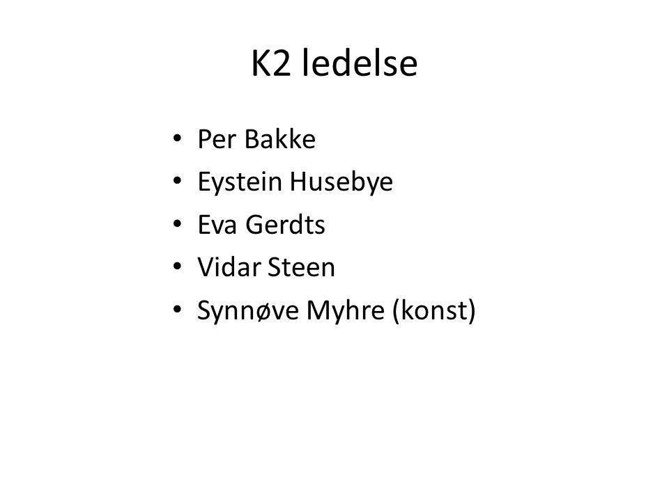 K2 ledelse Per Bakke Eystein Husebye Eva Gerdts Vidar Steen