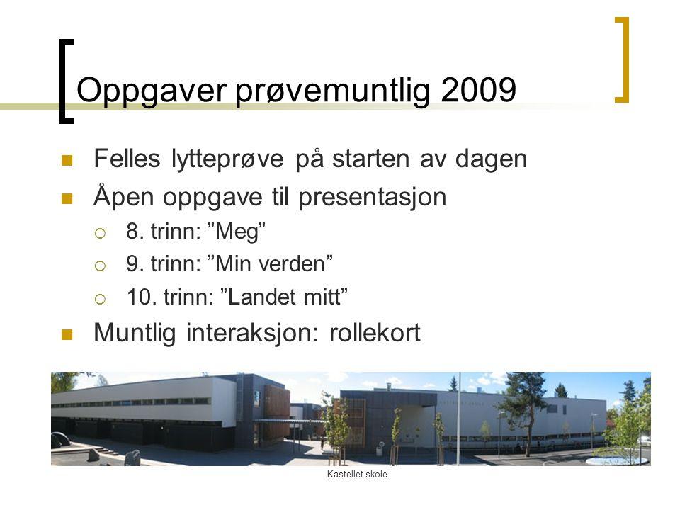 Oppgaver prøvemuntlig 2009