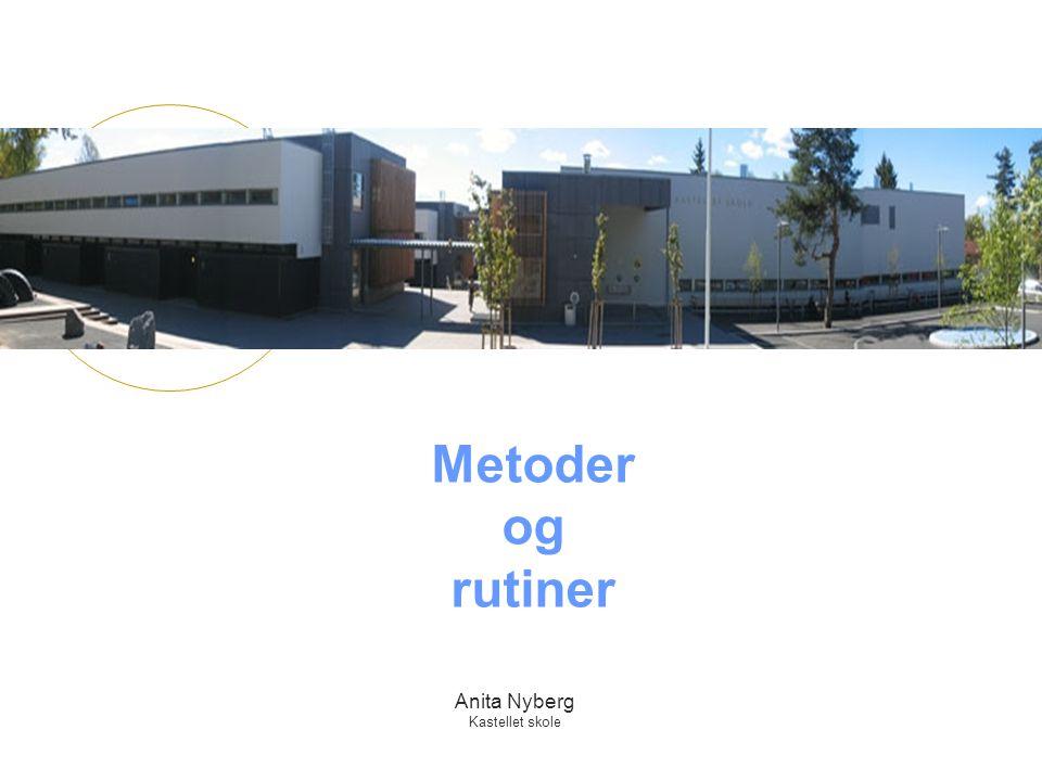 Metoder og rutiner Anita Nyberg Kastellet skole