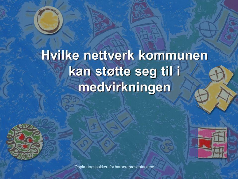 Hvilke nettverk kommunen kan støtte seg til i medvirkningen