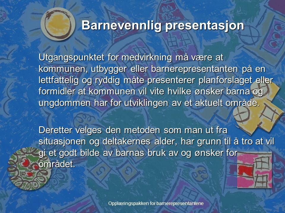 Barnevennlig presentasjon