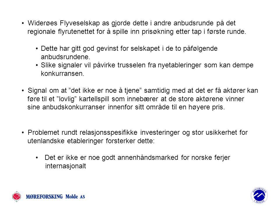 Widerøes Flyveselskap as gjorde dette i andre anbudsrunde på det