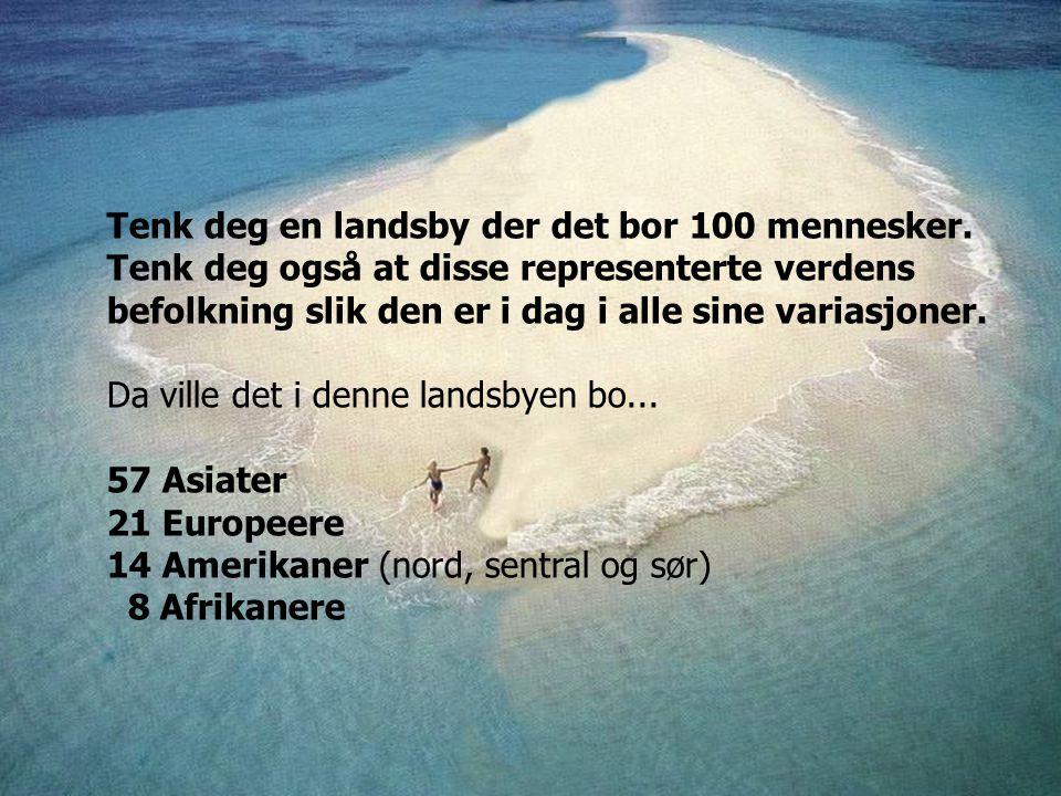 Tenk deg en landsby der det bor 100 mennesker