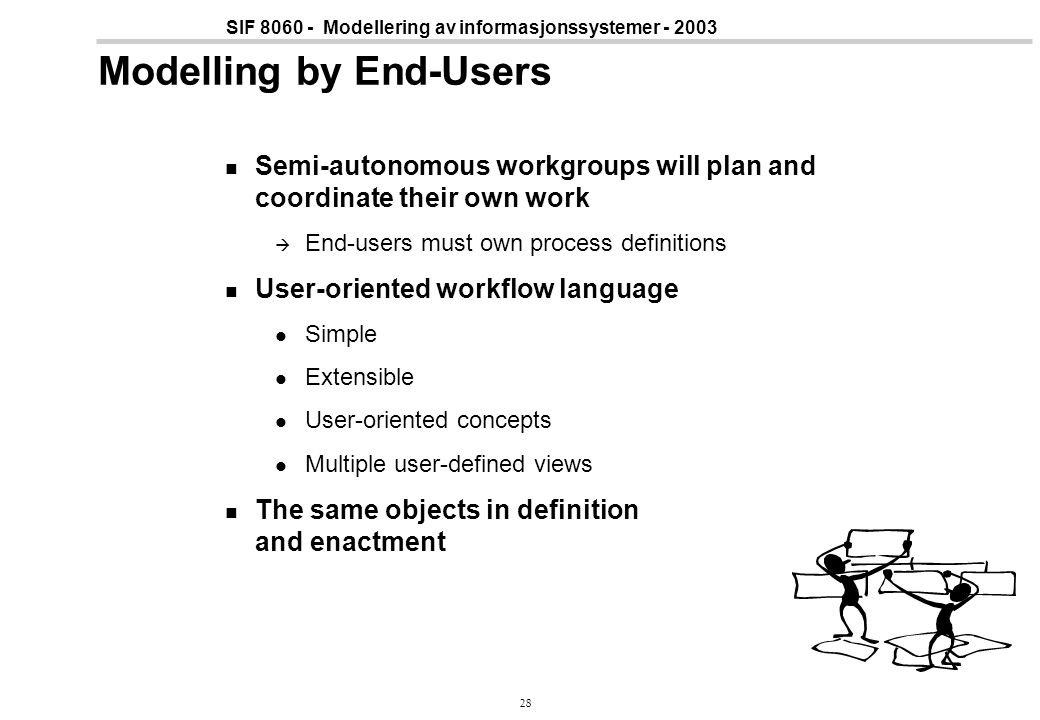 Modelling by End-Users