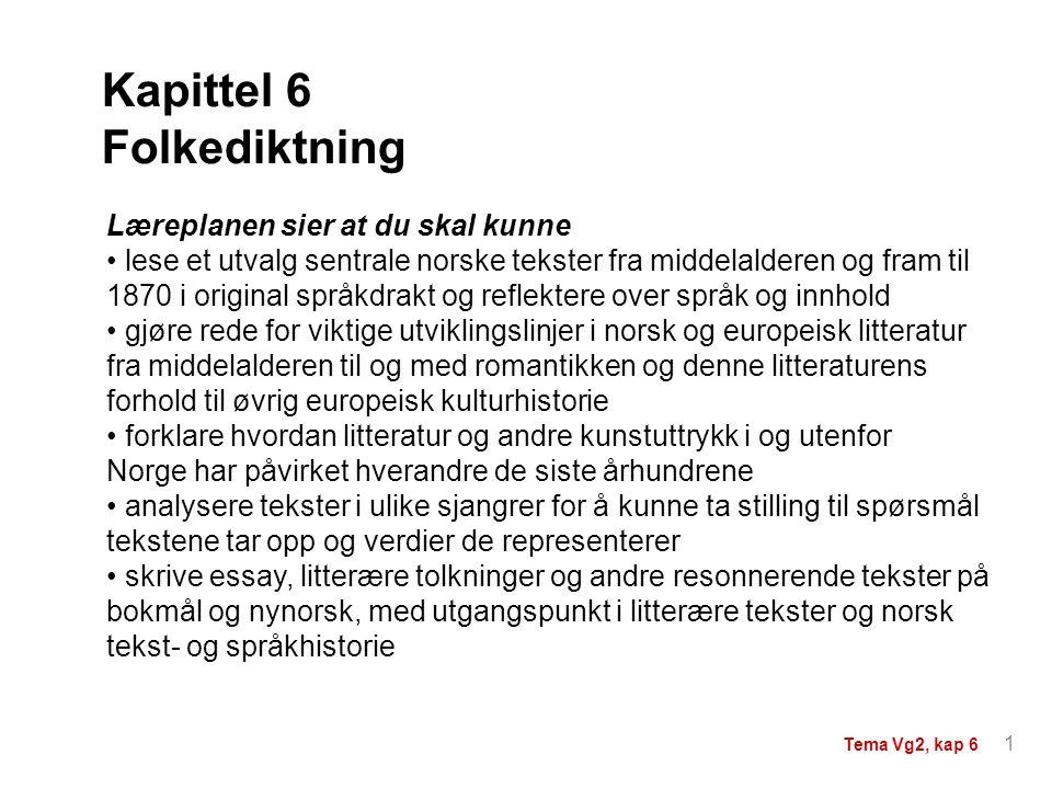 Kapittel 6 Folkediktning