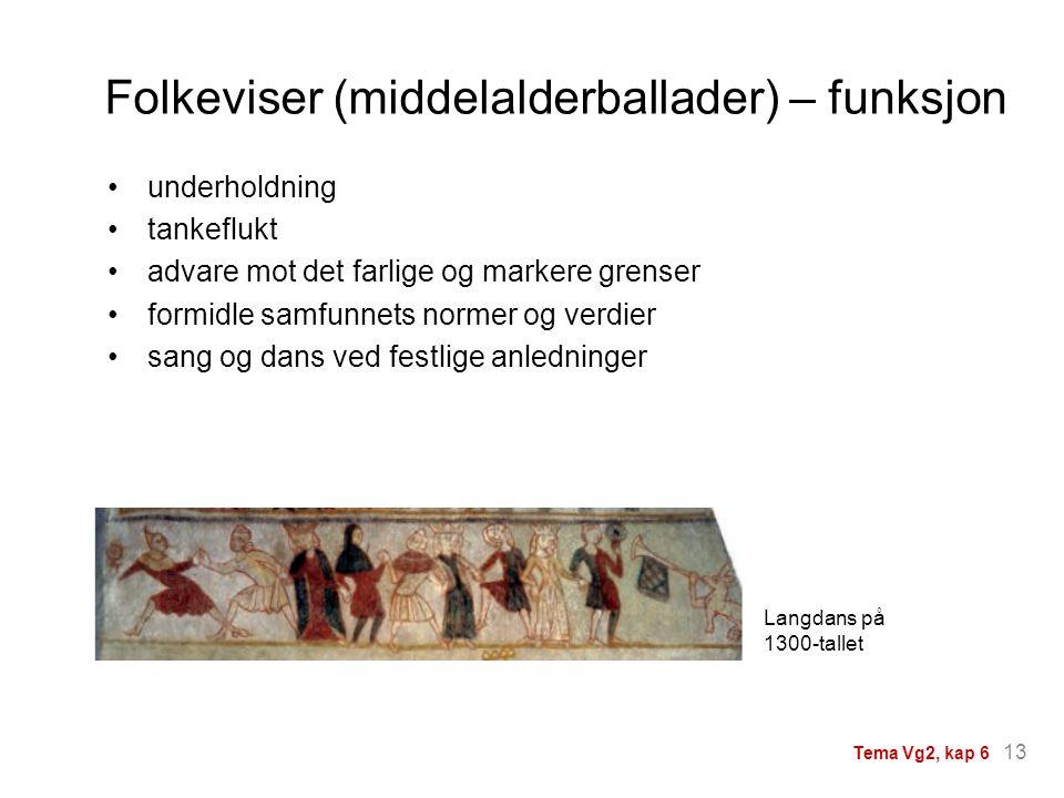 Folkeviser (middelalderballader) – funksjon