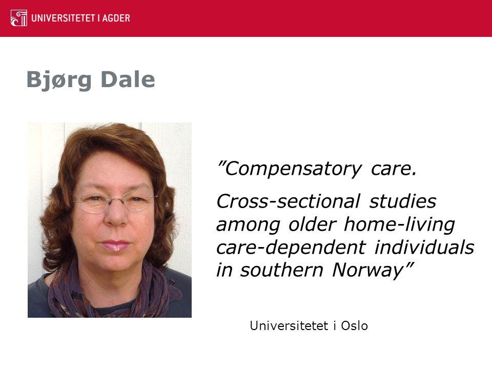 Bjørg Dale Compensatory care.