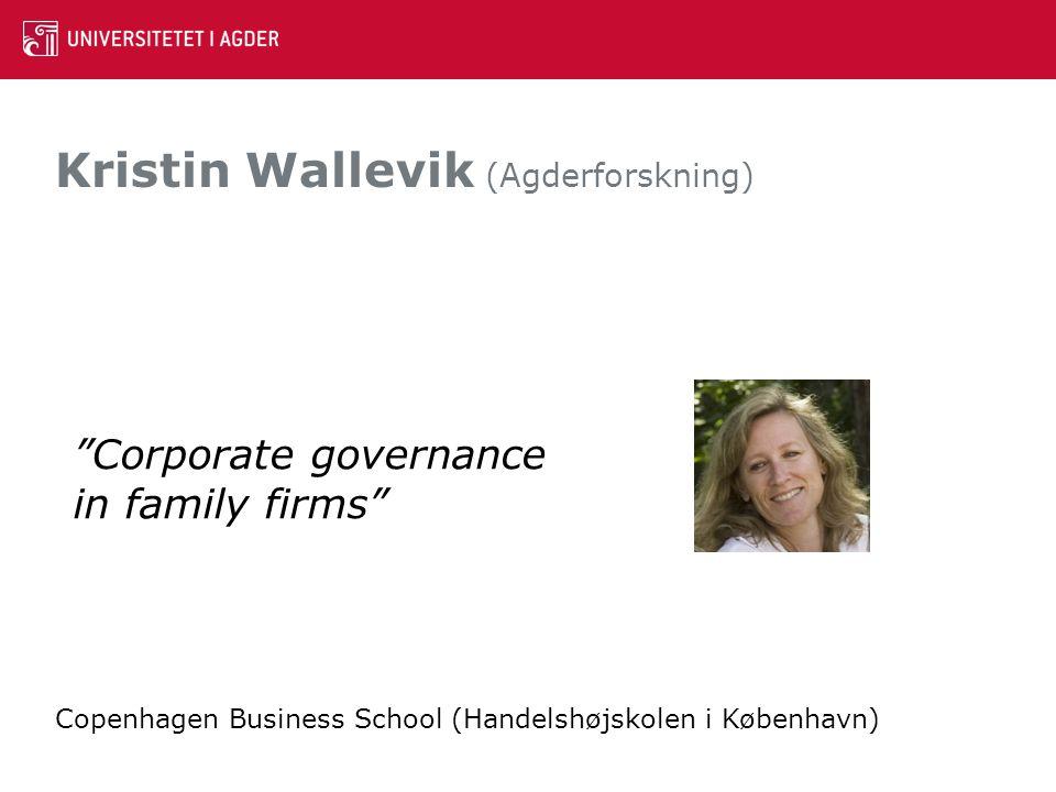 Kristin Wallevik (Agderforskning)