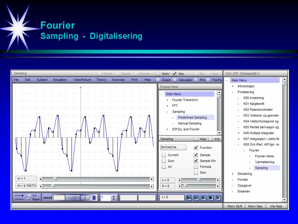 Fourier Sampling - Digitalisering