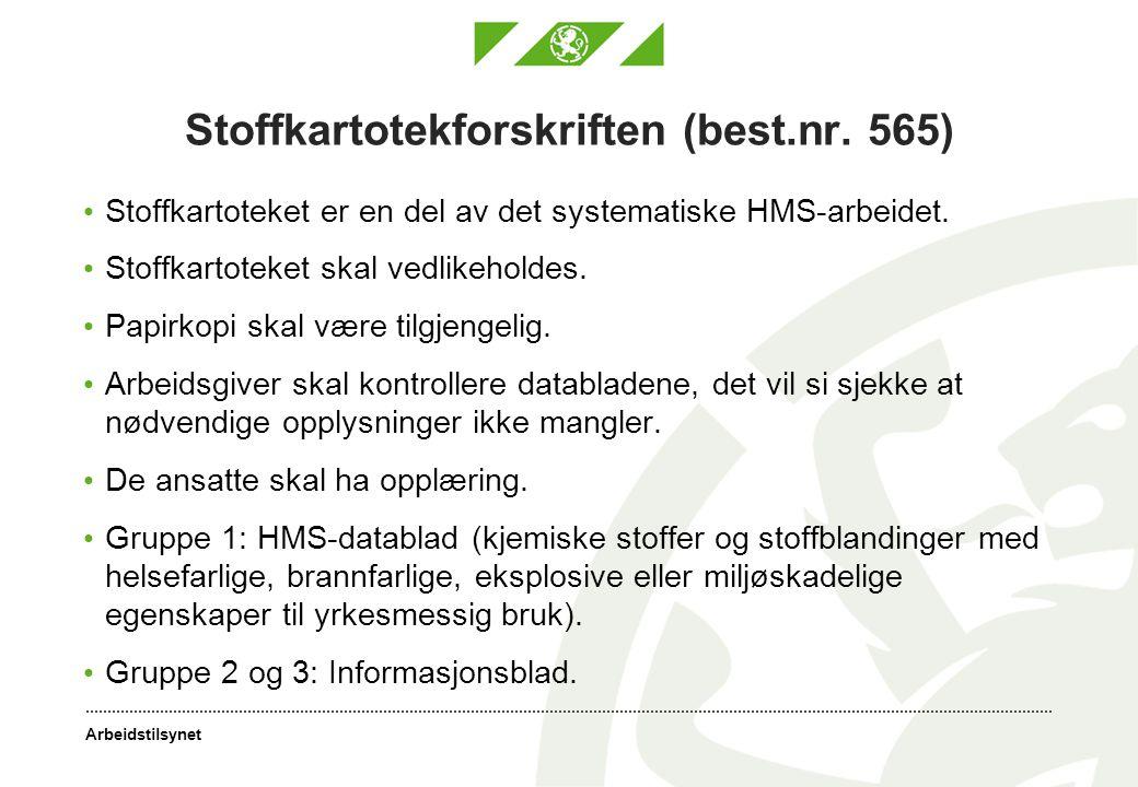 Stoffkartotekforskriften (best.nr. 565)