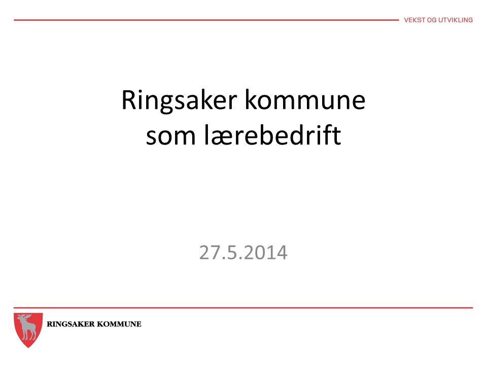 Ringsaker kommune som lærebedrift