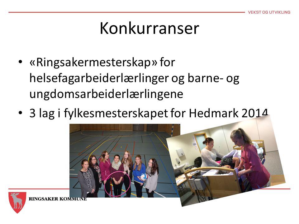 Konkurranser «Ringsakermesterskap» for helsefagarbeiderlærlinger og barne- og ungdomsarbeiderlærlingene.