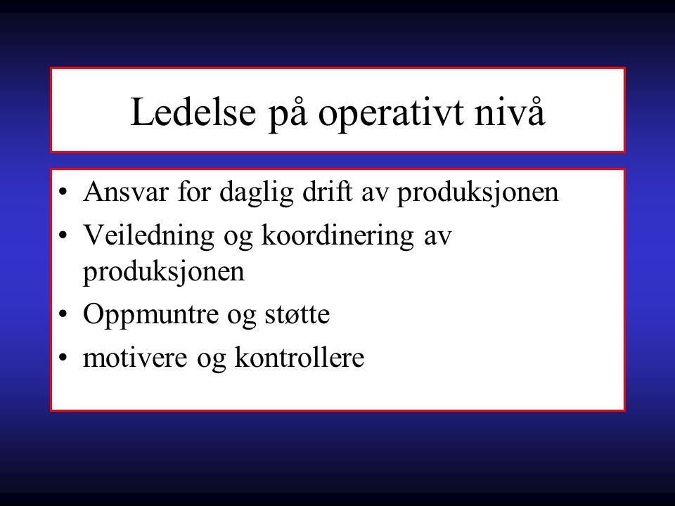 Ledelse på operativt nivå