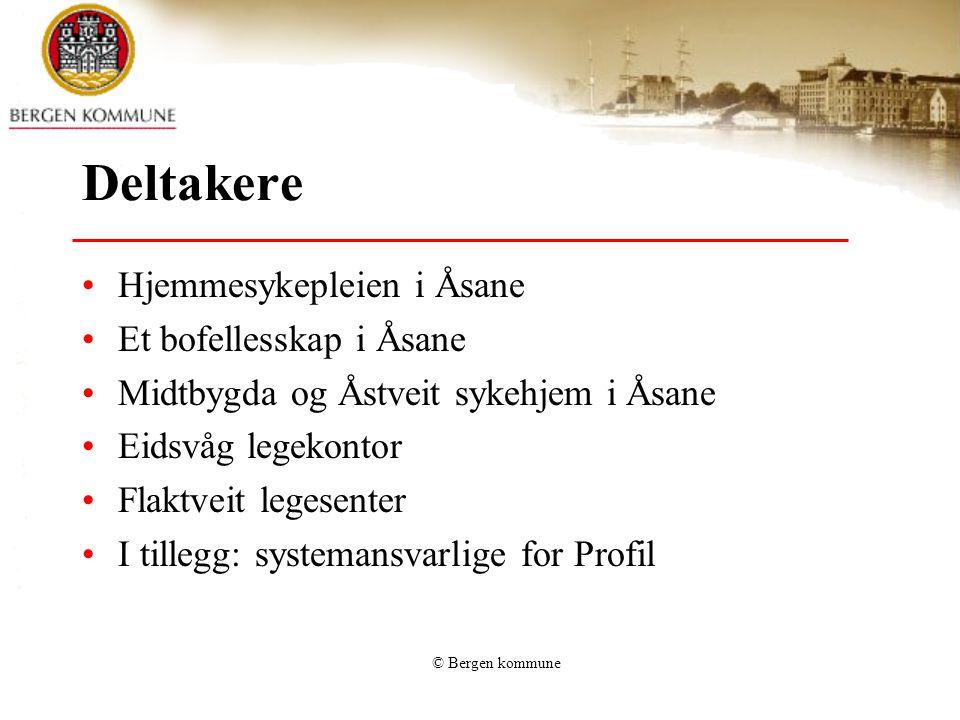 Deltakere Hjemmesykepleien i Åsane Et bofellesskap i Åsane