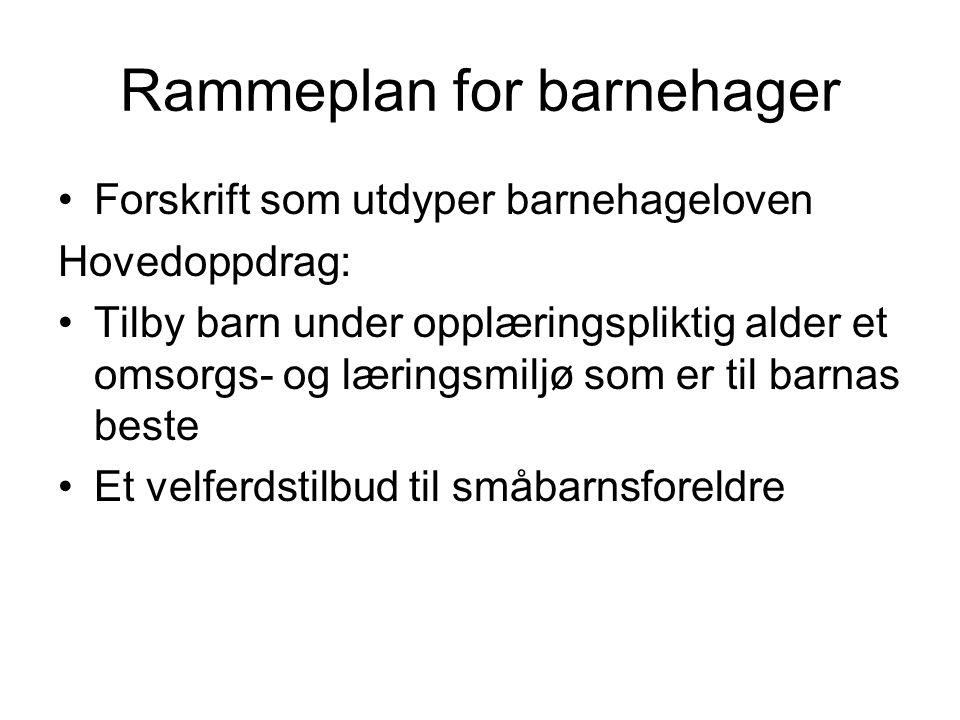 Rammeplan for barnehager