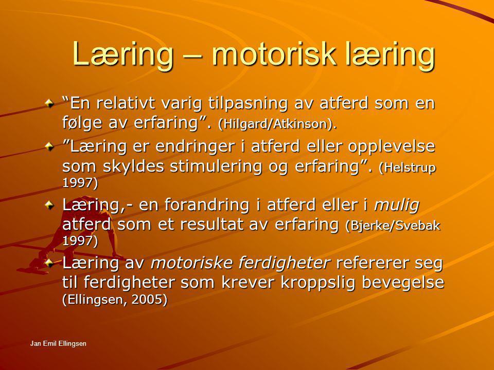 Læring – motorisk læring