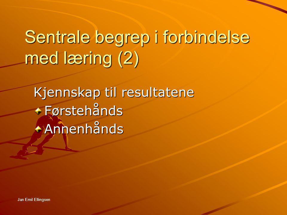 Sentrale begrep i forbindelse med læring (2)