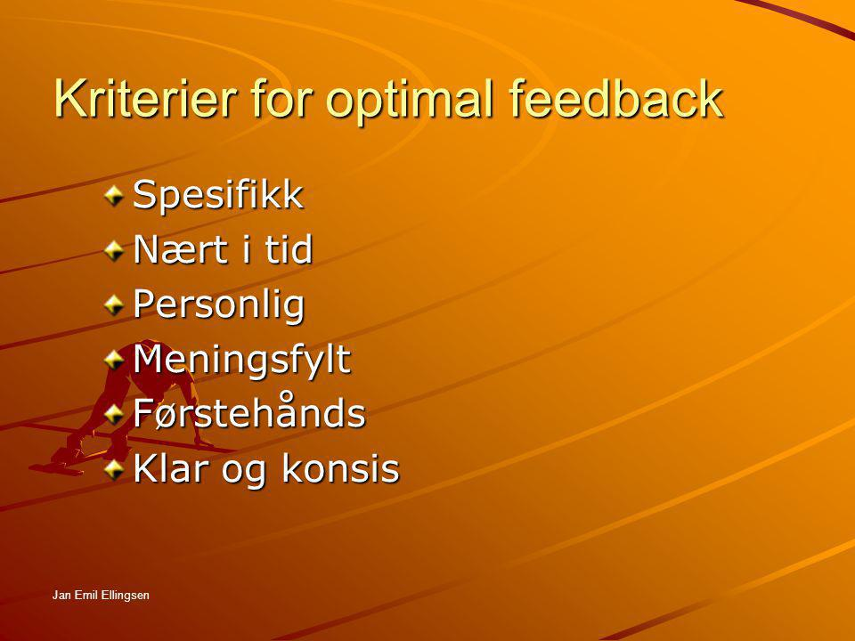 Kriterier for optimal feedback