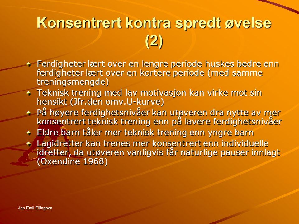 Konsentrert kontra spredt øvelse (2)